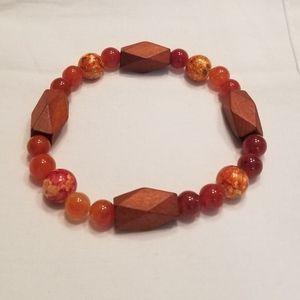 🎉HP!! 🌅 Men's orange stretch bracelet